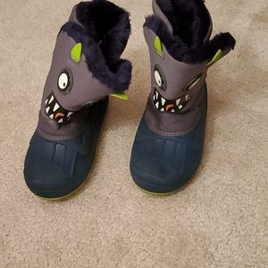 The cutest monster snow boots